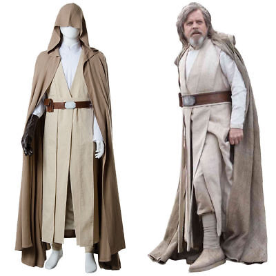 Star Wars 8 The Last Jedi Luke Skywalker Cosplay Costume Brown Robe Cape R9 - The Jedi Robe