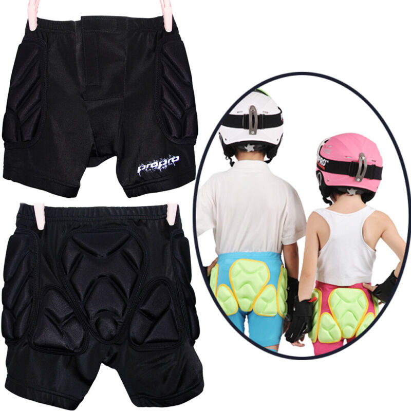 Kids Unisex Padded Snowboard Hip Protective Pants Winter Skiing Protector Shorts