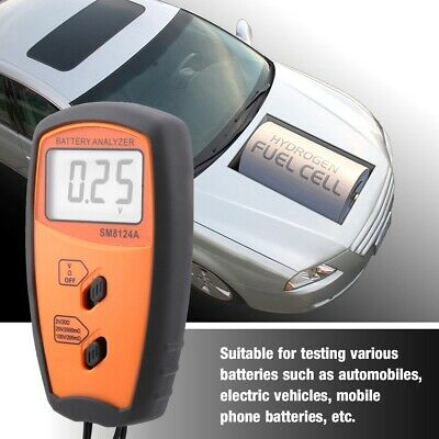 A Battery Resistance Voltmeter Internal Impedance Meter Lcd Rechargeable Sm8124a