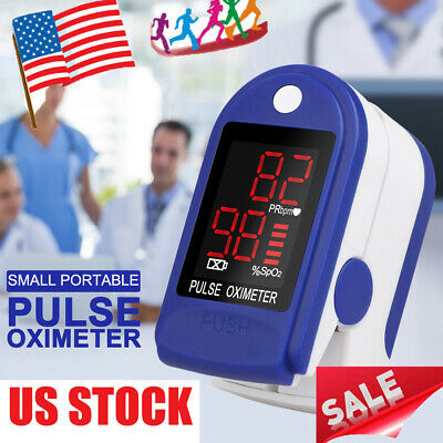 Usa Pulse Fingertip Oximeter Blood Oxygen Spo2 Monitor Pr Pi Heart Rate