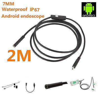 6led Android Endoscope Otg Micro Usb Endoscope Borescopes Inspection Camera 2m
