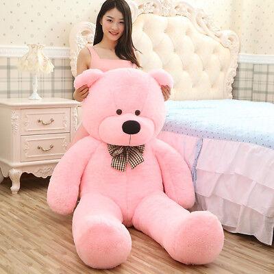"Giant Teddy Bear Soft Plush Stuffed Animals Toy Girls Birthday Gift Lifesize 47"""