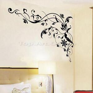 Pvc stickers mural autocollants vigne fleur d cor pour - Stickers muraux pour salon ...