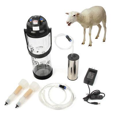 3l0.8gal Electric Barrel Machine Goat Milker Portable Vacuum Pump Bucket 2 Teat