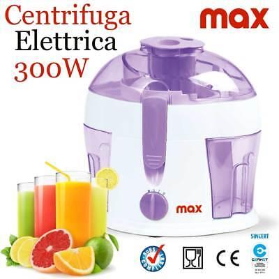 Centrifuga elettrica Frullatore Frutta e Verdura 300W Lame Acciaio Max Casa