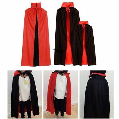 Halloween Kostüm Vampir Robe Umhang Männer Kinder Mantel - Schwarz Halloween Robe
