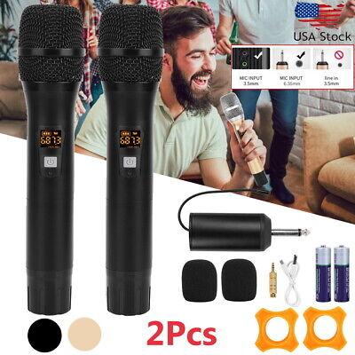 Professional Mic System Wireless Microphone UHF 25 Channel Dual Handheld Karaoke Uhf Wireless Karaoke Microphone System