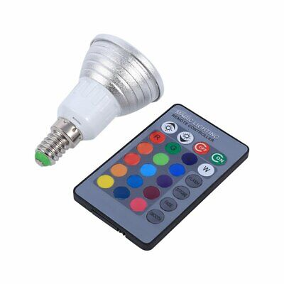 LED 16 Colors Changing Light Bulb with IR Remote Control E14  3W RGB US Seller  for sale  Shipping to India