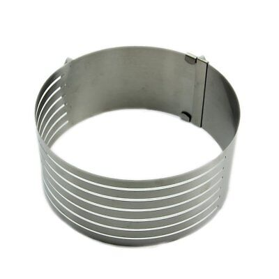 Adjustable Stainless Scalable Mousse Cake Ring Layer Slicer Cutter Mould R7Z5