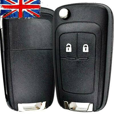 2 BUTTON REMOTE FLIP KEY FOB CASE FOR VAUXHALL ASTRA J INSIGNIA ZAFIRA CORSA D+