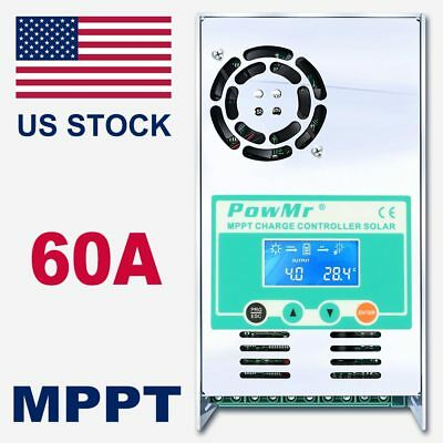 MPPT 60AMP Solar Charge Controller  For 12V 24V 36V 48V DC Battery Regulator for sale  Shipping to South Africa