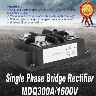 4 Terminals Single-phase Diode Bridge Rectifier 300a Amp 1600v High Power Usa