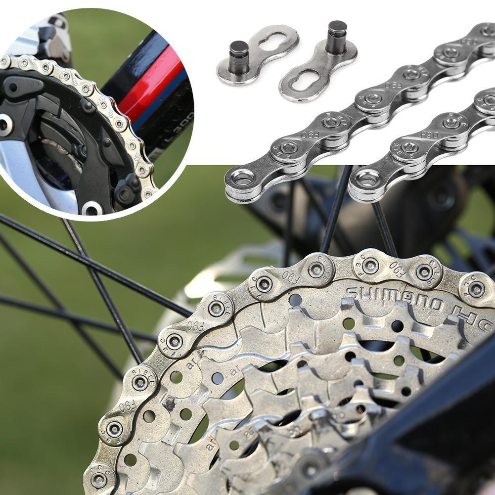 VG Sports 10 Speed MTB Bike Chains 116Link Silver Steel Solid Chain Bicycle Part