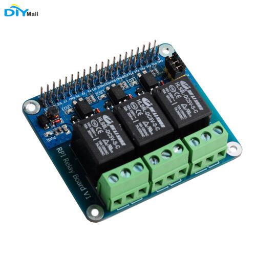 DIYmall 3 Channel RPi Relay Board Module for Raspberry Pi A+