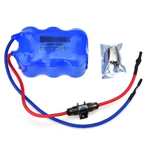 For Maxwell 16V 200F Automotive Regulator Rectifier Super Farad Capacitor Module