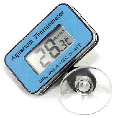 Wireless Digital Electronic Measurement Fish Tank Aquarium Thermometer Blue