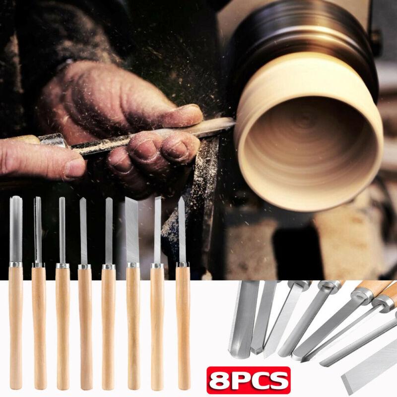 Biltek NEW 8pc Wood Lathe Chisel Set Turning Tools Woodworki