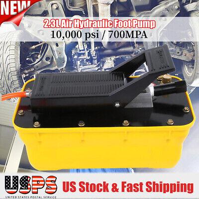 2.3l 10000psi 700mpa Single Acting Pneumatic Foot Pump W Hose Coupler Hydraulic