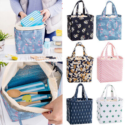 For Women Kids Men Insulated Canvas Box Tote Bag Thermal Cooler Food Lunch (Coolers For Womens)