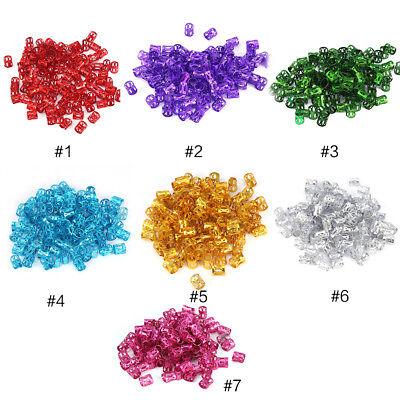 100/200X Hair Braid Ring Beads Dreadlocks Cuff For Hair Extension Jewelry Decor
