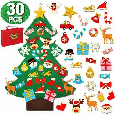 OurWarm 3ft DIY Felt Christmas Tree with Glitter Ornaments, Wall Hanging