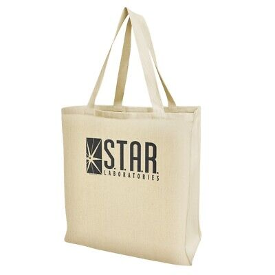 Cheap Reusable Bags (The Flash TV Series STAR Labs Logo Grocery Travel Reusable Tote)