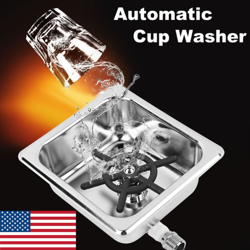 Automatic Stainless Cup Washer Cleaning Spot Glass Rinser for Hotel Coffee Shop
