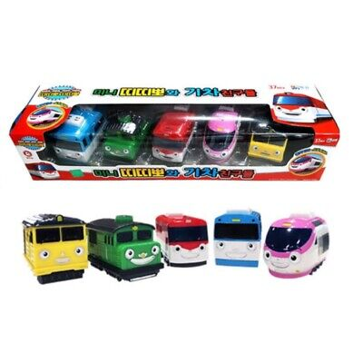 Titipo and Friends Pullback Gear Toy Mini 5 Trains Character Kids, Titipo, Genie