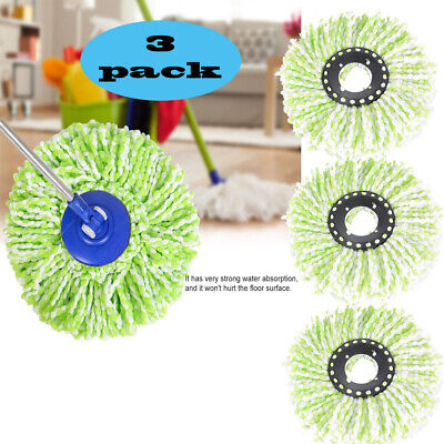 Lot of 3 Microfiber Mop Head Refill Replacement For Magic Mop 360° Spin Mop Head Refill