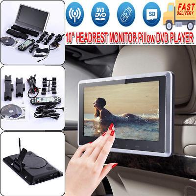 """10.1"""" HDMI Slim Headrest Monitor HD Digital Car DVD Player Portable IR+FM USB+SD"""