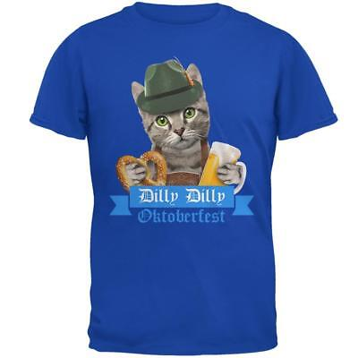 Dilly Dilly Oktoberfest Funny Cat Mens Soft T Shirt