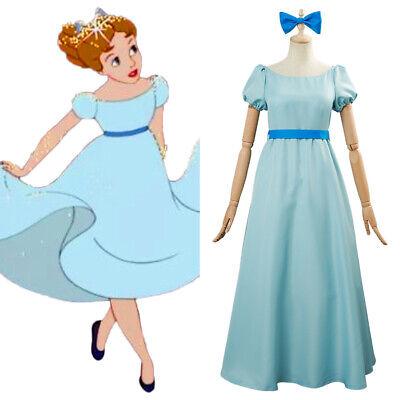 Peter Pan Cosplay Wendy Moira Angela Darling Skirt Costume Halloween  Kid Dress - Peter Pan Wendy Halloween Costumes