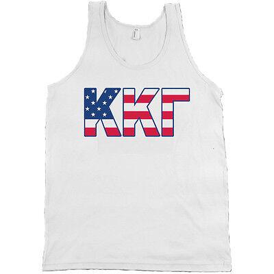 Kappa Kappa Gamma Bella + Canvas Tank Top Shirt KKG Sorority USA Flag Letters!