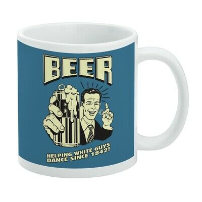 Beer Helping White Guys Dance Since 1842 Funny Humor Retro White Mug Beer Helping White Guys Dance