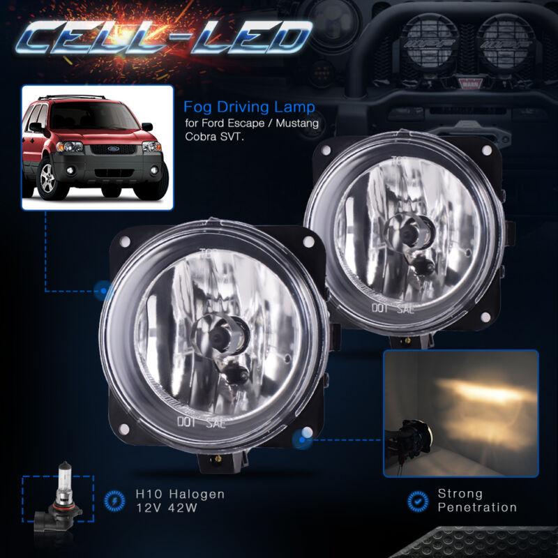 For Ford 02-04 Focus SVT 03-04 Mustang Cobra 05-07 Escape Clear Lens Fog Light