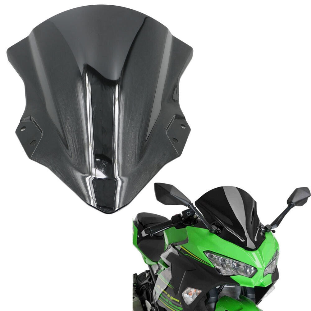 Black Windshield Windscreen For 2018 18 Kawasaki Ninja 250 Ninja 400 EX400