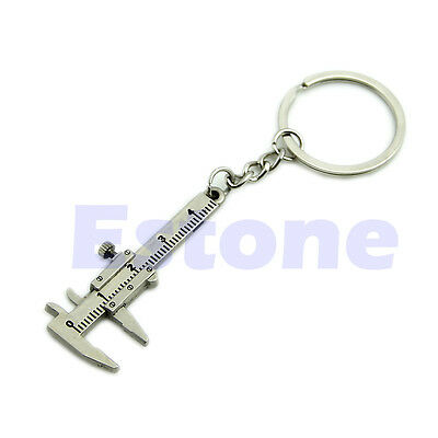 Novelty Simulation Movable Vernier Caliper Model Key Chain Keyring Specail Gift