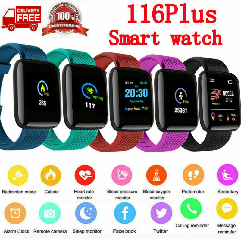 Bluetooth Smart Watch Heart Rate Blood Oxygen Sport Fitness