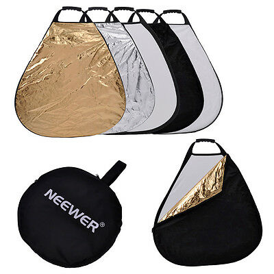 """Neewer 43"""" TRIANGLE 5-IN-1 Portable Collapsible Grip Reflector and Carrying Case"""