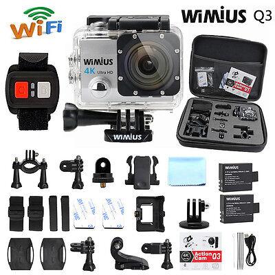 Wimius 4K Action Sports Camera waterproof WiFi 1080P 16MP DV sj9000 DVR +DV Bag