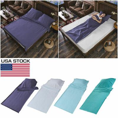 - Sleeping Bag Single/Double Liner Travel Sleep Sack Sheet Hiking Camping Tent Mat