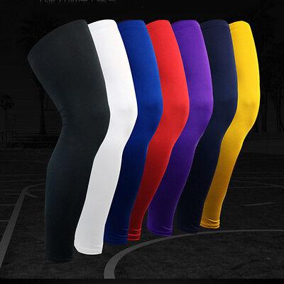 Hot Kids Adult Basketball Leg Knee Pad Long Sleeve Protector Gear Crashproof - Hot Adult