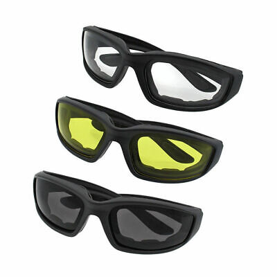 Motorcycle Transition Lens Biker Riding Sun Glasses Day/Night Foam Padded (Transition Sunglasses For Motorcycle Riding)