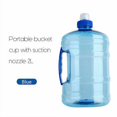 2L Outdoor Sports Training Trinkwasserflasche Big Kettle Cup Mit Griffkappe AP ()