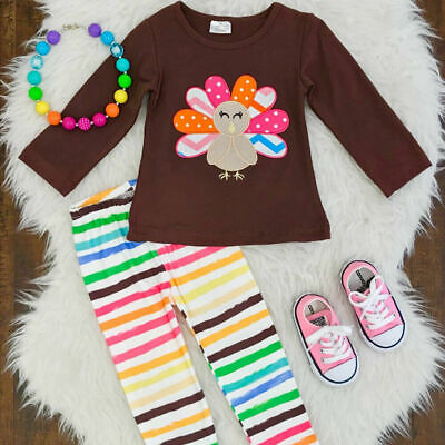Outfits For Kids (Thanksgiving Outfit for Kids Toddler Baby Girls Clothes Children Turkey)