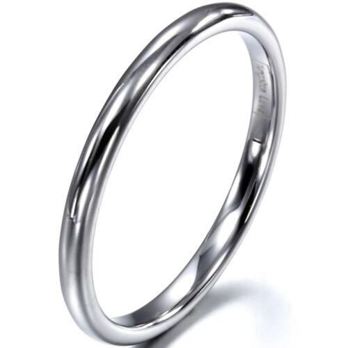 2mm High Polished Men's Women's Tungsten Ring Engagement Wed