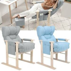 Recliner Armchair Sofa Home Lounge Chair Reclining Adjustable Wooden Legs