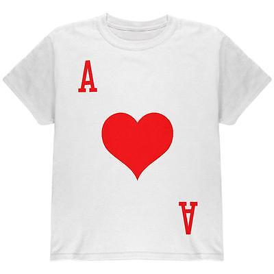 Halloween Ace of Hearts Card Soldier Costume All Over Youth T Shirt - Ace Of Hearts Costume