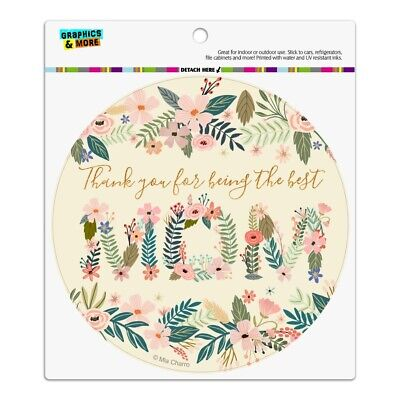Thank You for Being the Best Mom Mother's Day Automotive Car Vinyl Circle