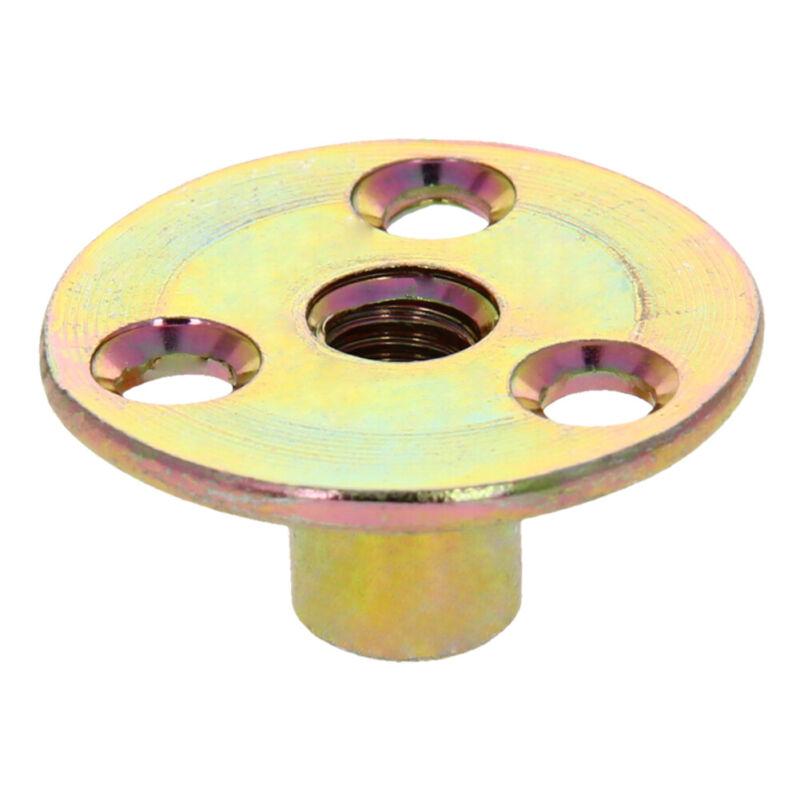 M6/8 Zinc Alloy Round Base T Nut Three Brad Holes  Furniture Screw-In Tee Nut